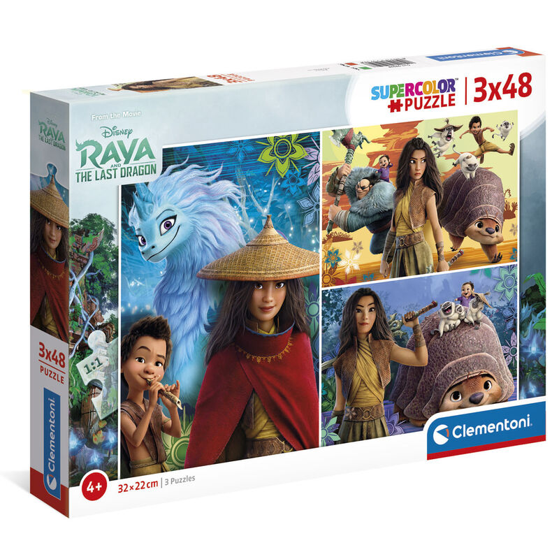 Photo du produit Puzzle Raya et le dernier Dragon Disney 3x48 pièces