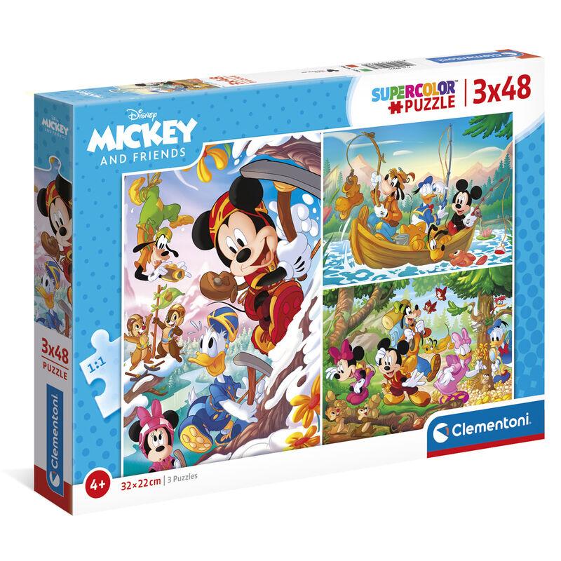 Photo du produit Puzzle Mickey and Friends Disney 3x48 pièces