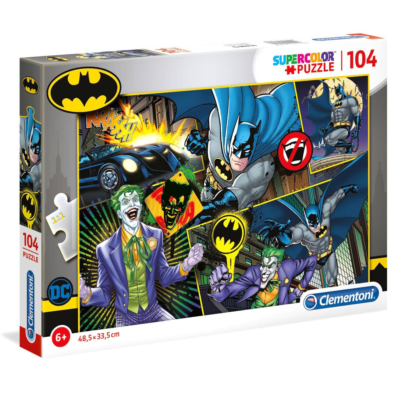 Photo du produit DC COMICS SUPERCOLOR PUZZLE BATMAN (104 PIÈCES)