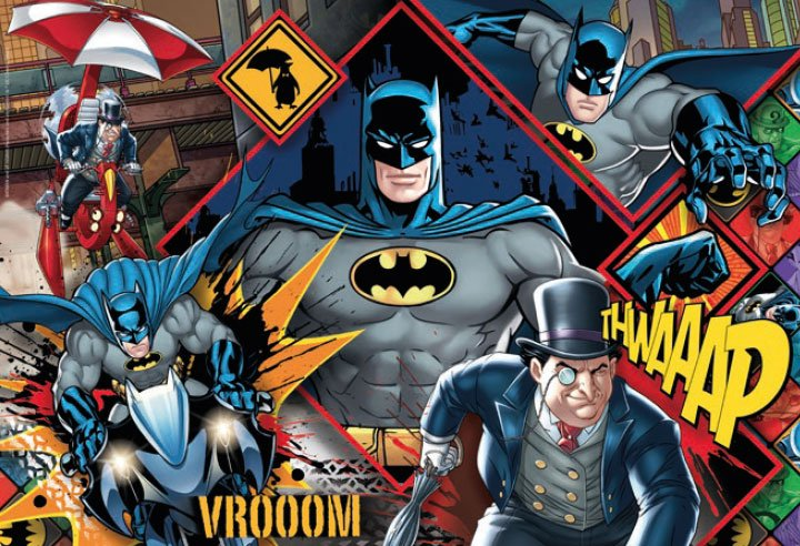 Photo du produit DC COMICS SUPERCOLOR PUZZLE BATMAN (180 PIÈCES)