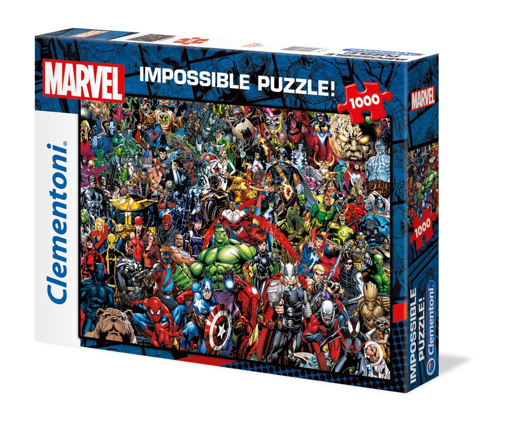Photo du produit MARVEL 80TH ANNIVERSARY PUZZLE IMPOSSIBLE CHARACTERS (1000 PIECES)