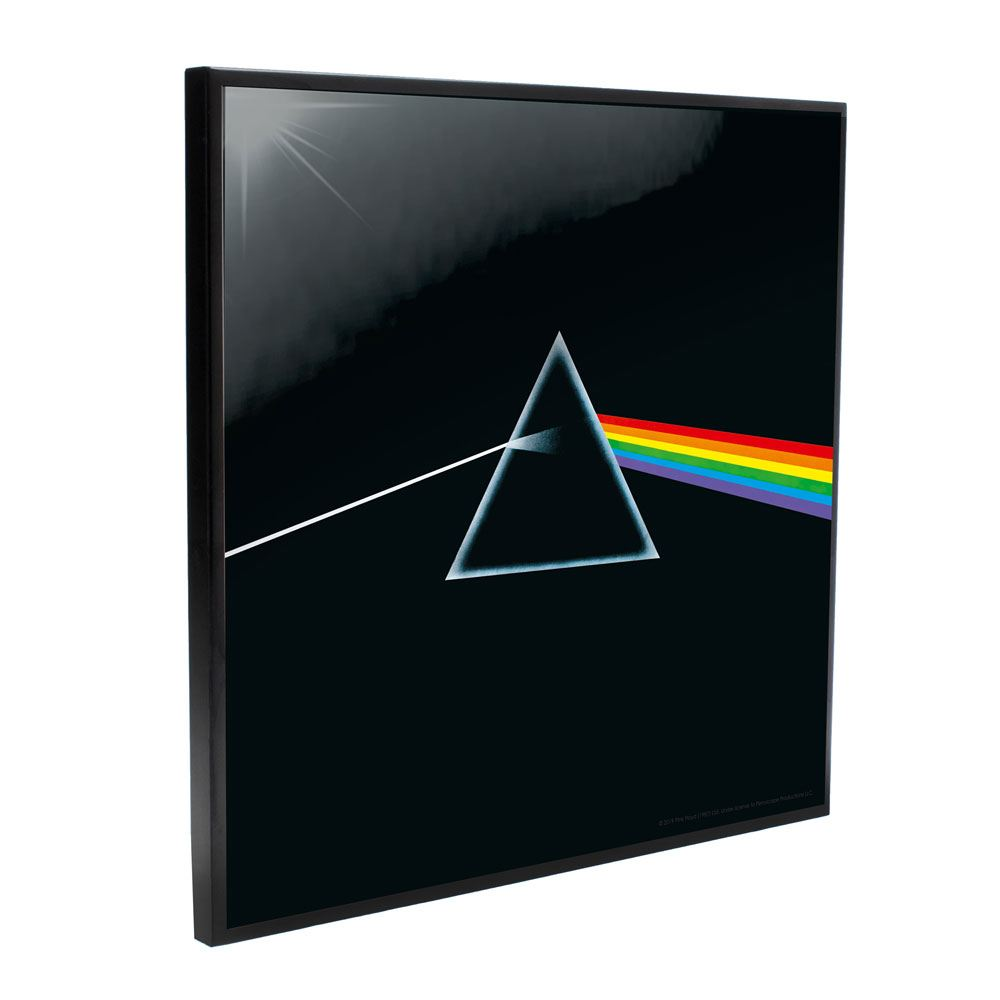 Photo du produit PINK FLOYD DÉCORATION MURALE CRYSTAL CLEAR PICTURE DARK SIDE OF THE MOON 32 X 32 CM