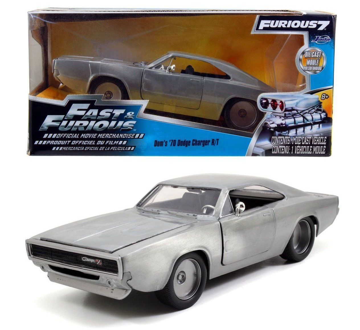Photo du produit FAST & FURIOUS 1/24 1970 1968 DODGE CHARGER R/T METAL