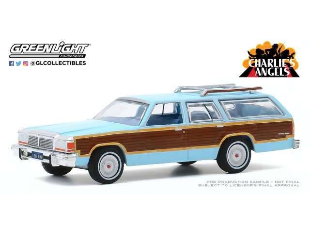 Photo du produit CHARLIE´S ANGELS 1979 FORD LTD COUNTRY SQUIRE 1/64 MÉTAL