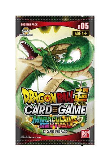 Photo du produit DRAGONBALL SUPER CARD GAME SEASON 5 24 BOOSTERS + PRÉSENTOIR BOOSTERS MIRACULOUS REVIVAL