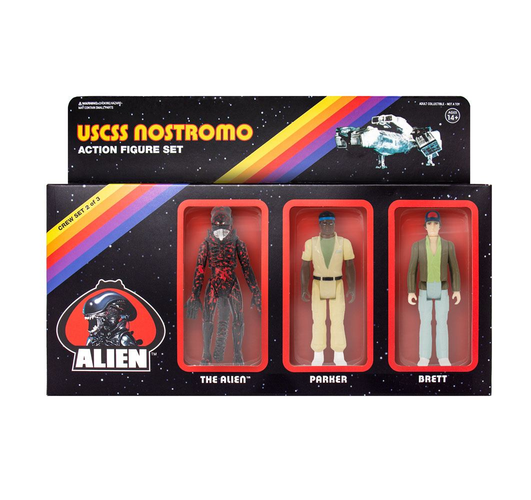 Photo du produit ALIEN PACK 3 FIGURINES REACTION PACK B 10 CM