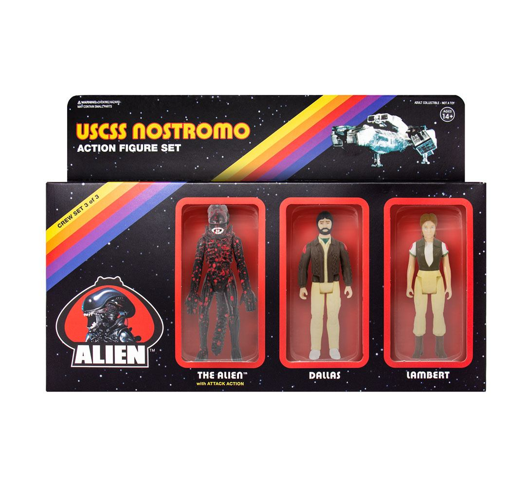 Photo du produit ALIEN PACK 3 FIGURINES REACTION PACK C