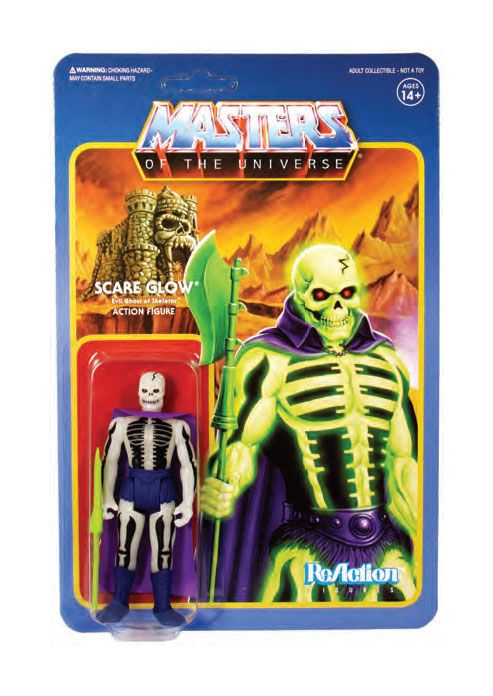 Photo du produit MASTERS OF THE UNIVERSE WAVE 4 FIGURINE REACTION SCARE GLOW
