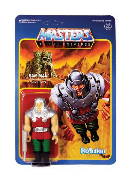 Photo du produit MASTERS OF THE UNIVERSE WAVE 4 FIGURINE REACTION RAM MAN