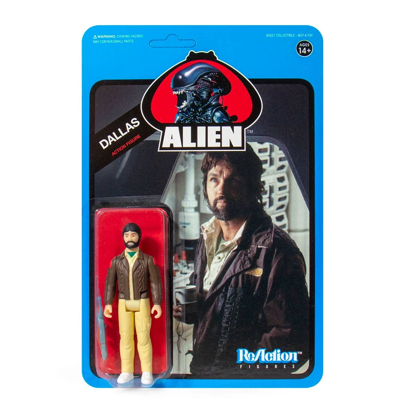Photo du produit ALIENS WAVE 3 FIGURINE REACTION DALLAS (BLUE CARD) 10 CM - SUPER7