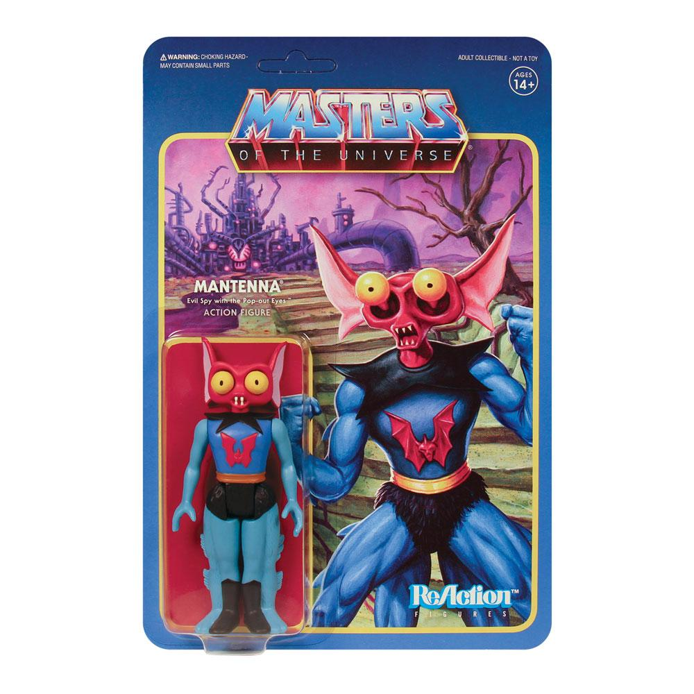 Photo du produit MASTERS OF THE UNIVERSE WAVE 5 FIGURINE REACTION MANTENNA 10 CM