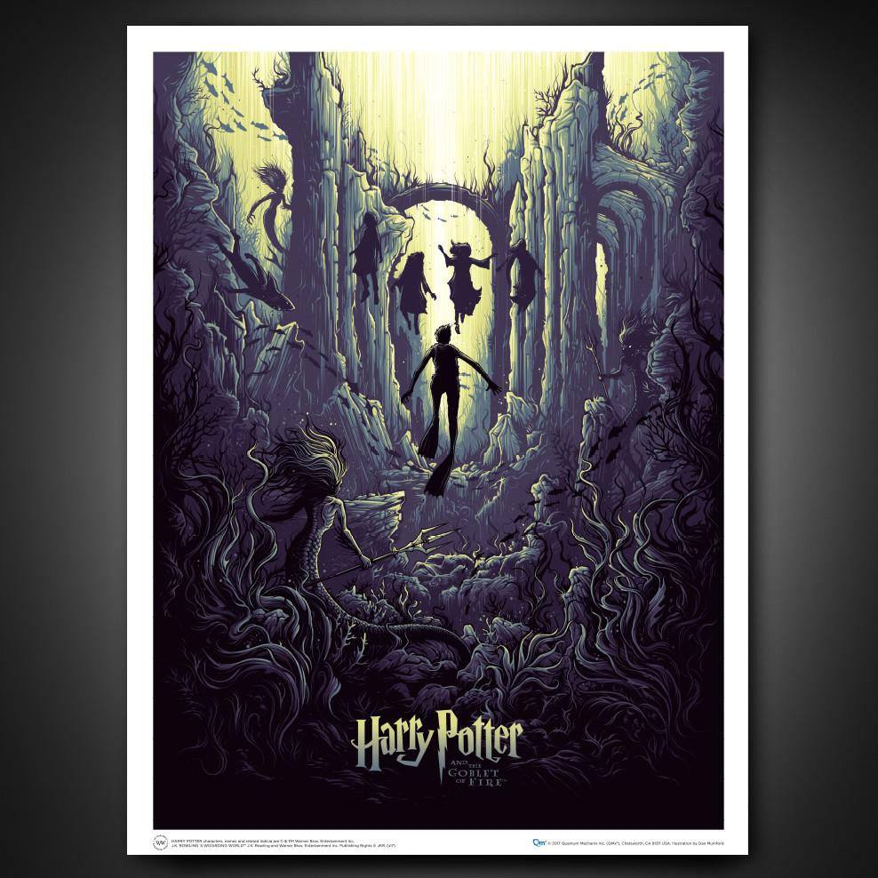 Photo du produit LITHOGRAPHIE HARRY POTTER AND THE WATERY CHALLENGE 61 X 46 CM