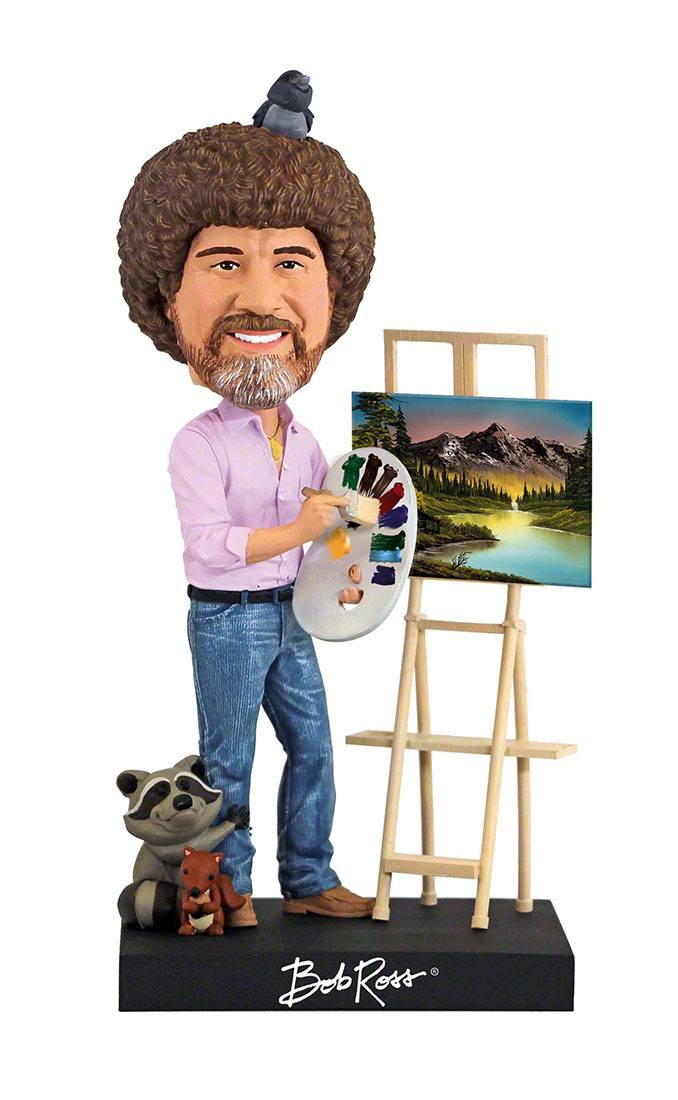 Photo du produit FIGURINE ROYAL BOBBLES THE JOY OF PAINTING BOBBLE HEAD BOB ROSS