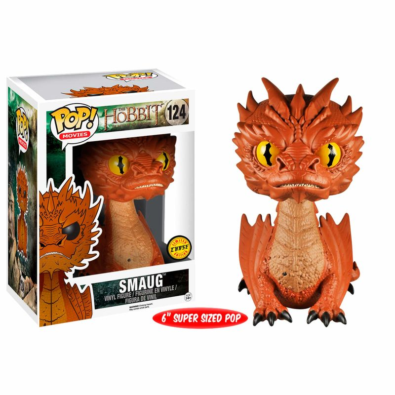 Photo du produit FUNKO POP LORD OF THE RINGS THE HOBBIT SMAUG 15CM CHASE EXCLUSIVE