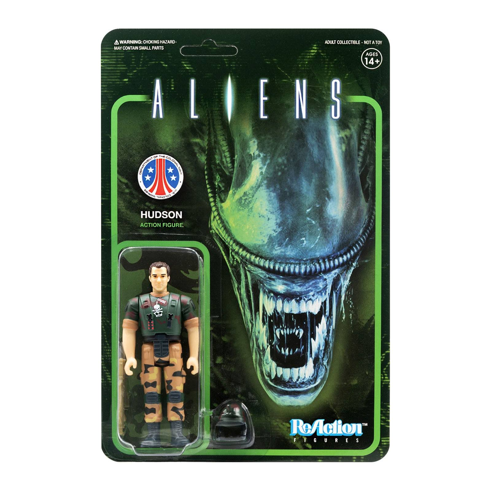 Photo du produit ALIENS WAVE 1 FIGURINE REACTION HUDSON 10 CM - SUPER7