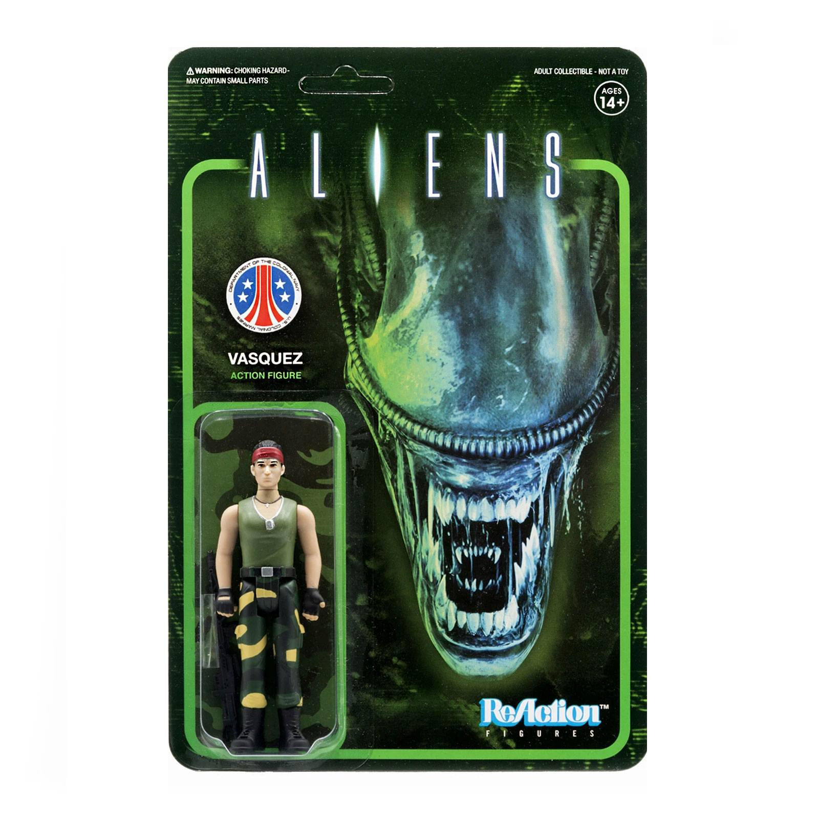 Photo du produit ALIENS WAVE 1 FIGURINE REACTION VASQUEZ 10 CM - SUPER7