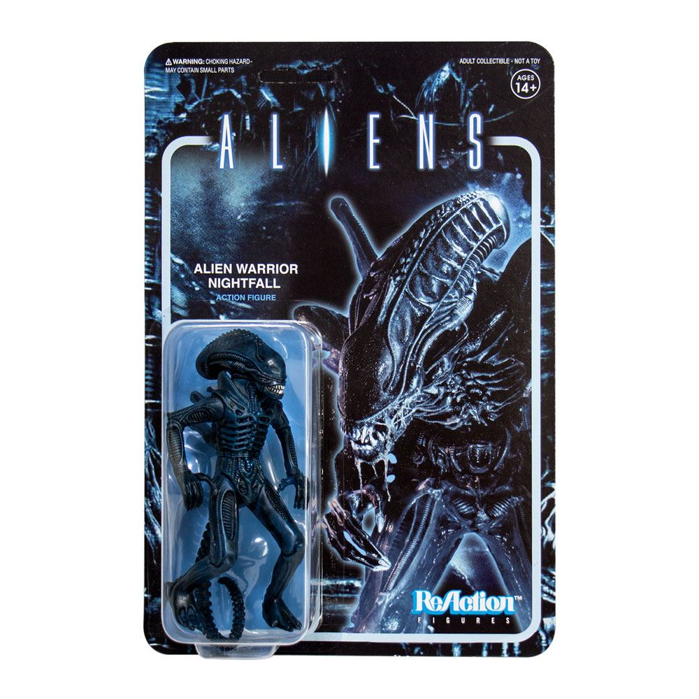 Photo du produit ALIENS WAVE 1 FIGURINE REACTION ALIEN WARRIOR NIGHTFALL BLUE 10 CM