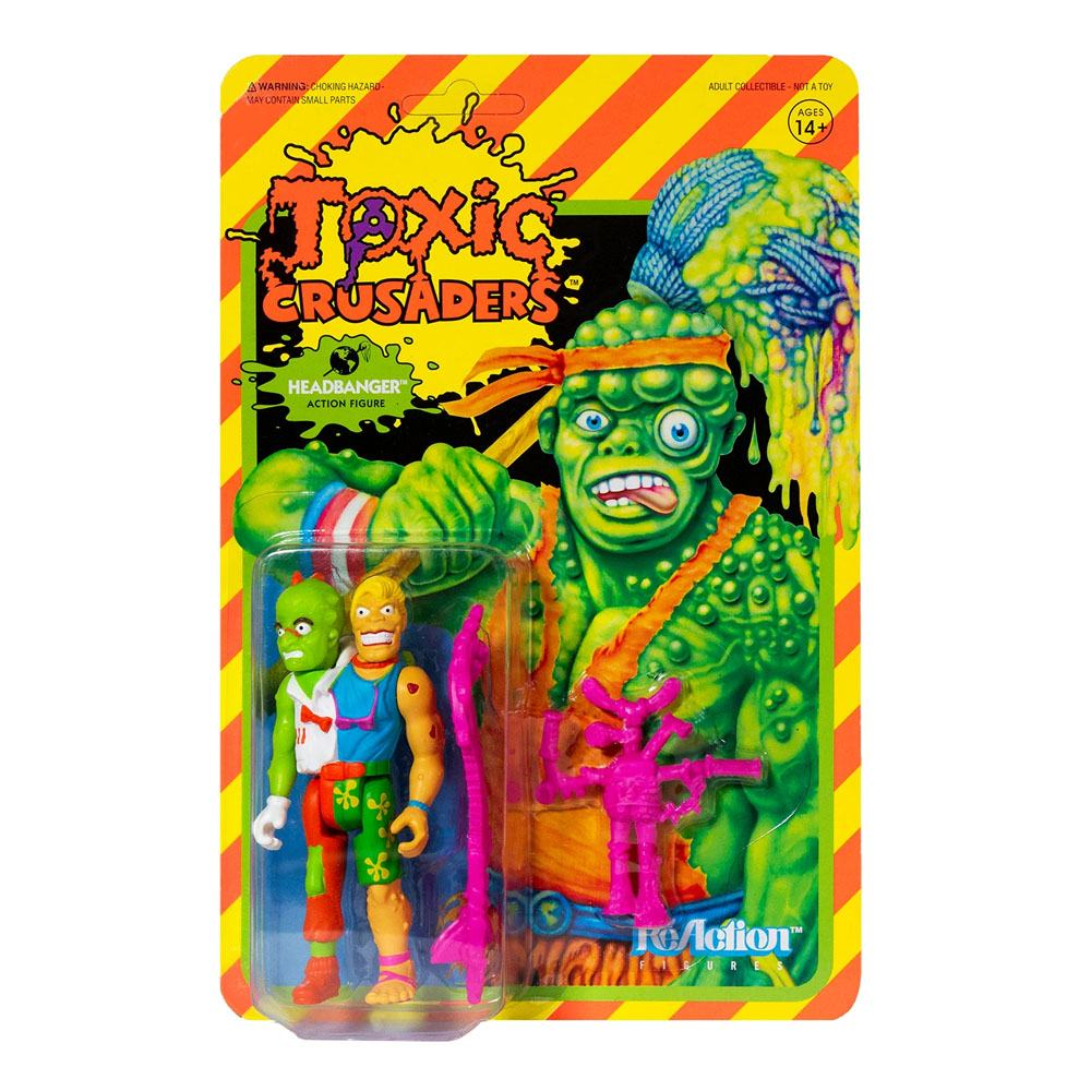 Photo du produit FIGURINE SUPER7 TOXIC CRUSADERS WAVE 1 REACTION  HEADBANGER 10 CM