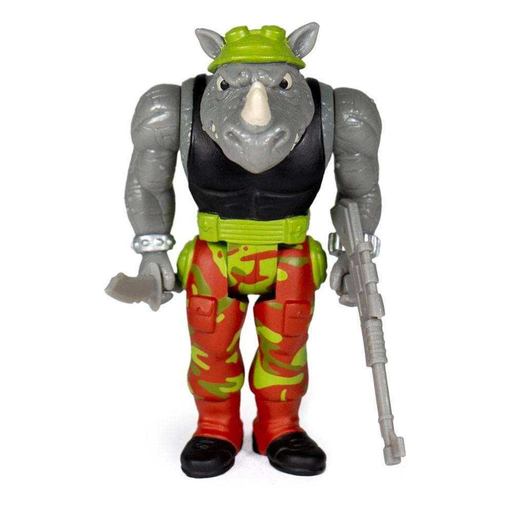Photo du produit Les Tortues ninja figurine ReAction Rocksteady 10 cm