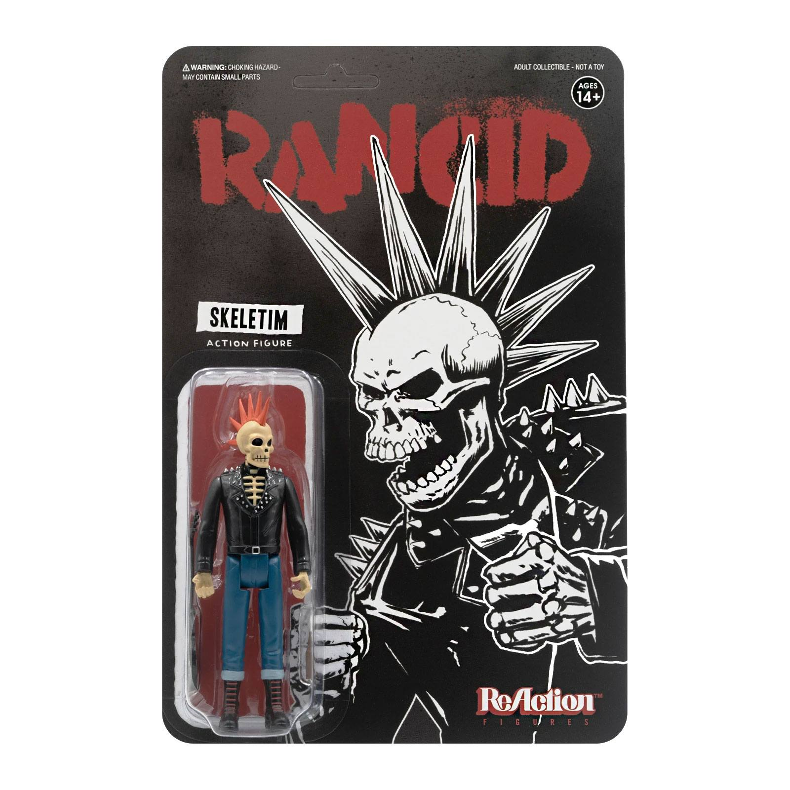 Photo du produit RANCID FIGURINE REACTION SKELETIM 10 CM - SUPER7