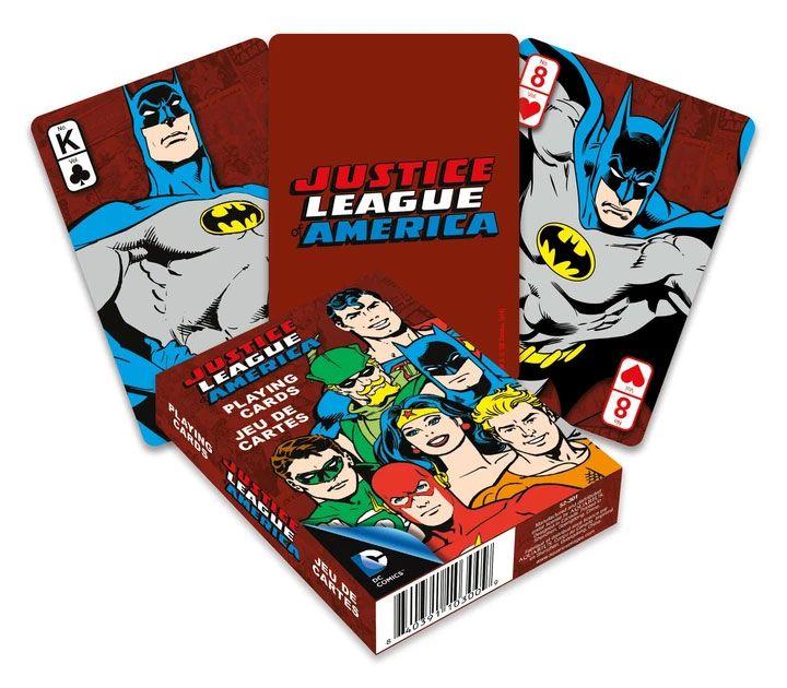 Photo du produit DC Comics jeu de cartes à jouer Retro Justice League