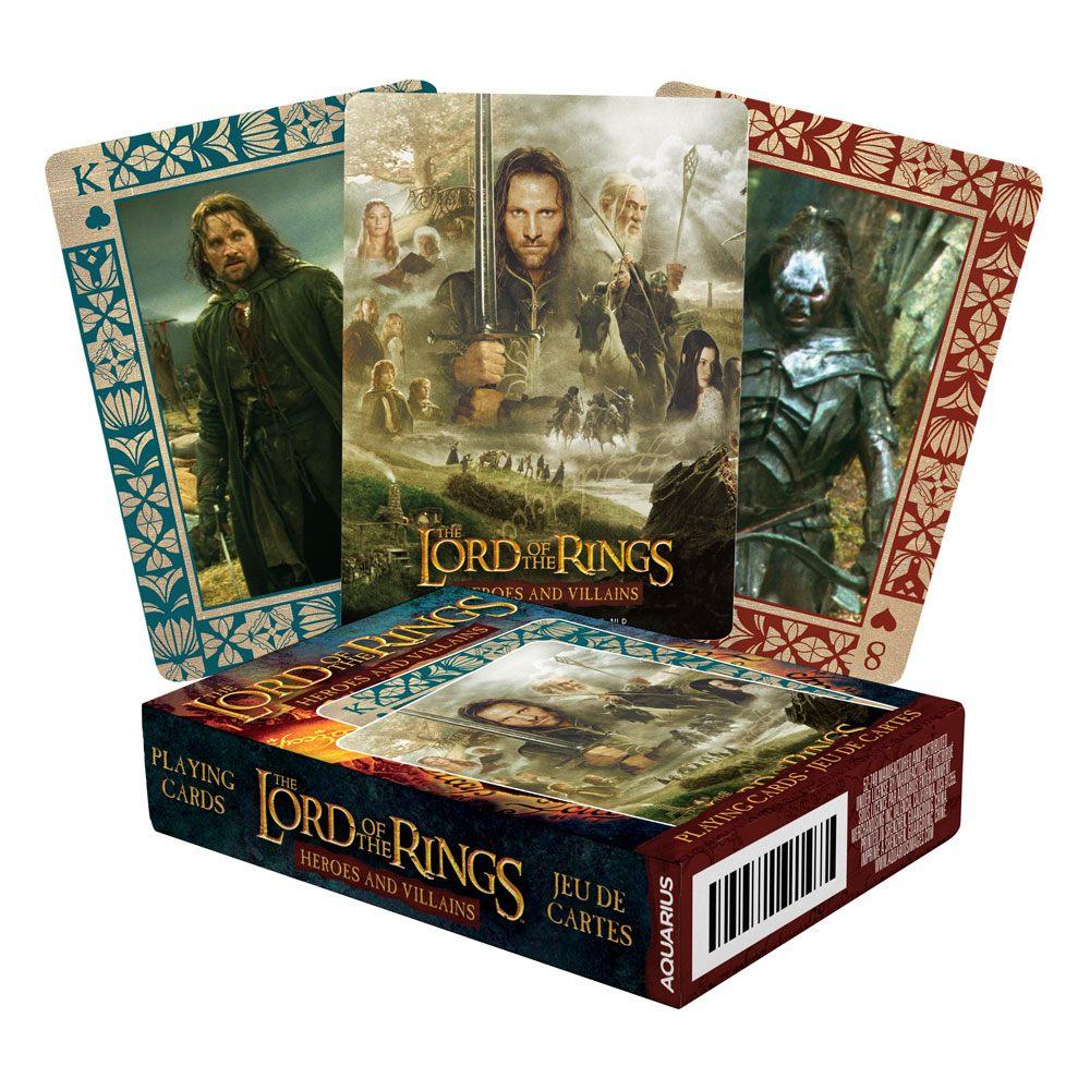 Photo du produit Le Seigneur des Anneaux jeu de cartes à jouer Heroes and Villains