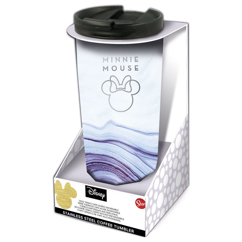 Photo du produit Verre thermos à café Disney Minnie en acier inoxydable