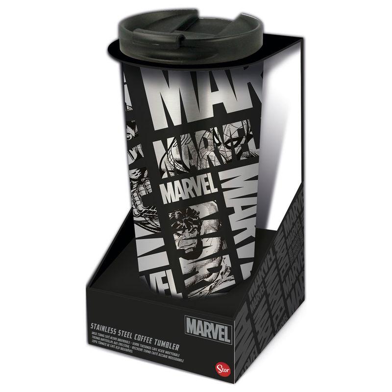 Photo du produit Verre thermos à café Marvel en acier inoxydable