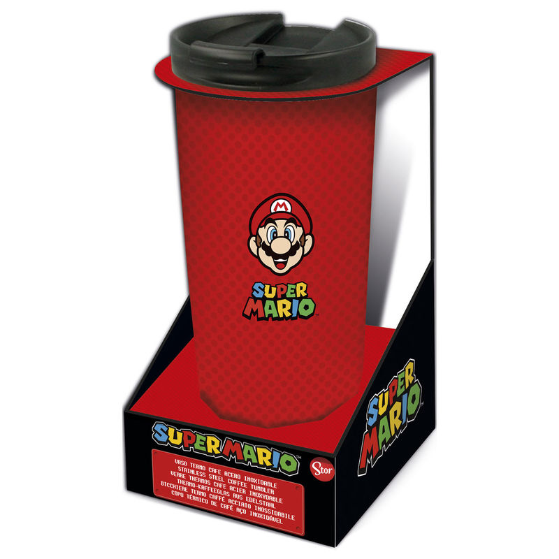 Photo du produit Verre thermos à café Super Mario Bros en acier inoxydable