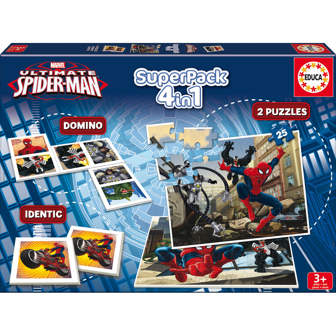 Photo du produit Superpack 4 jeux Marvel Spiderman