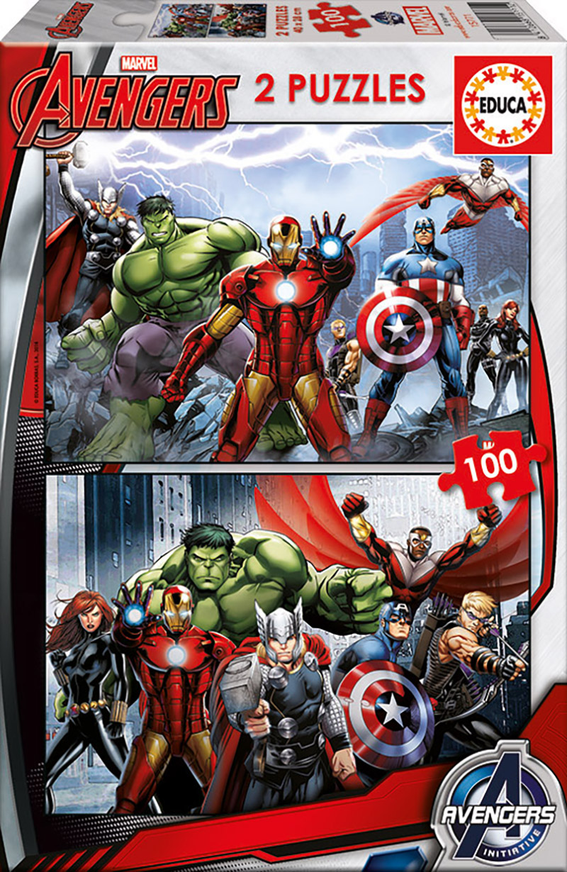 Photo du produit Puzzle Marvel 2 x100 pièces
