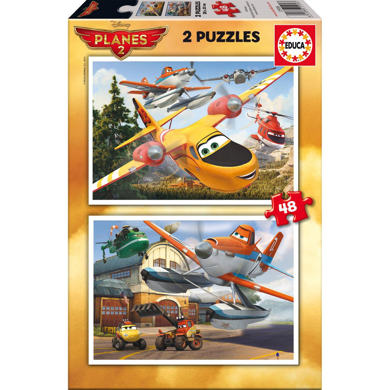 Photo du produit Puzzle Disney Planes 2 x 48 pièces en bois