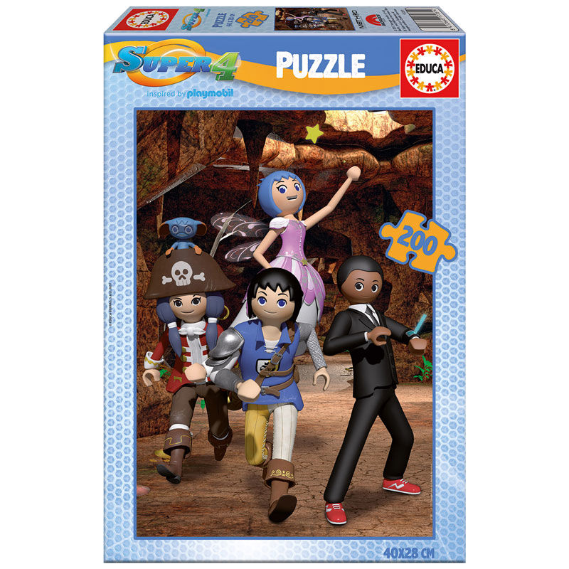 Photo du produit PUZZLE PLAYMOBIL SUPER 4 DE 200 PIECES