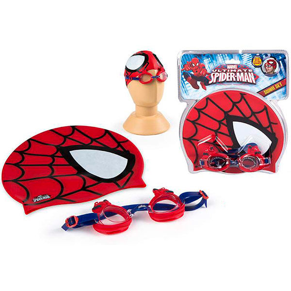 Photo du produit ENSEMBLE LUNETTES DE PISCINE ET BONNET DE BAIN SPIDERMAN MARVEL ULTIMATE