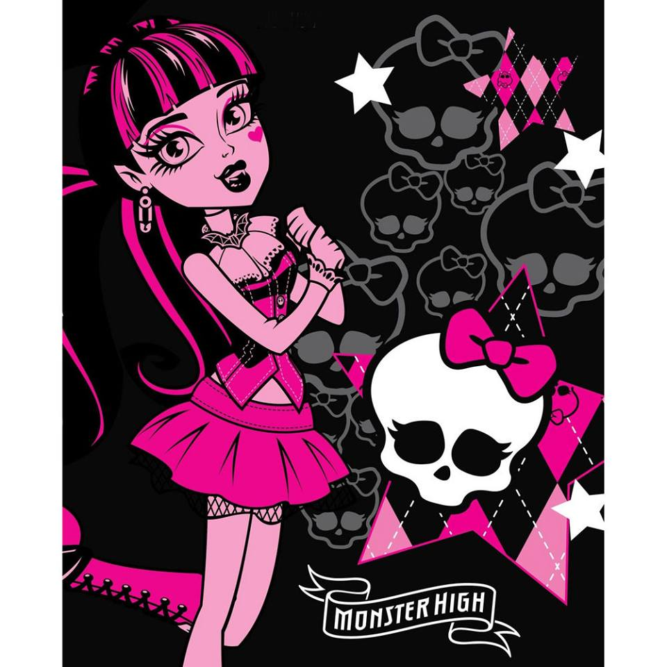 Photo du produit Couverture polaire Monster High Draculaura