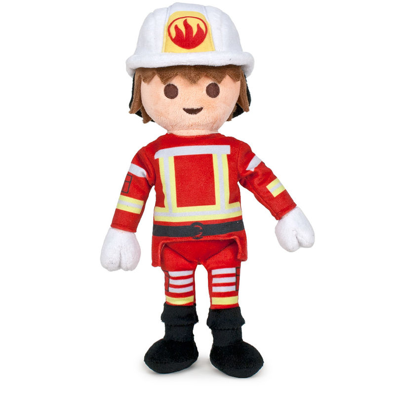 Photo du produit PELUCHE PLAYMOBIL POMPIER 32CM
