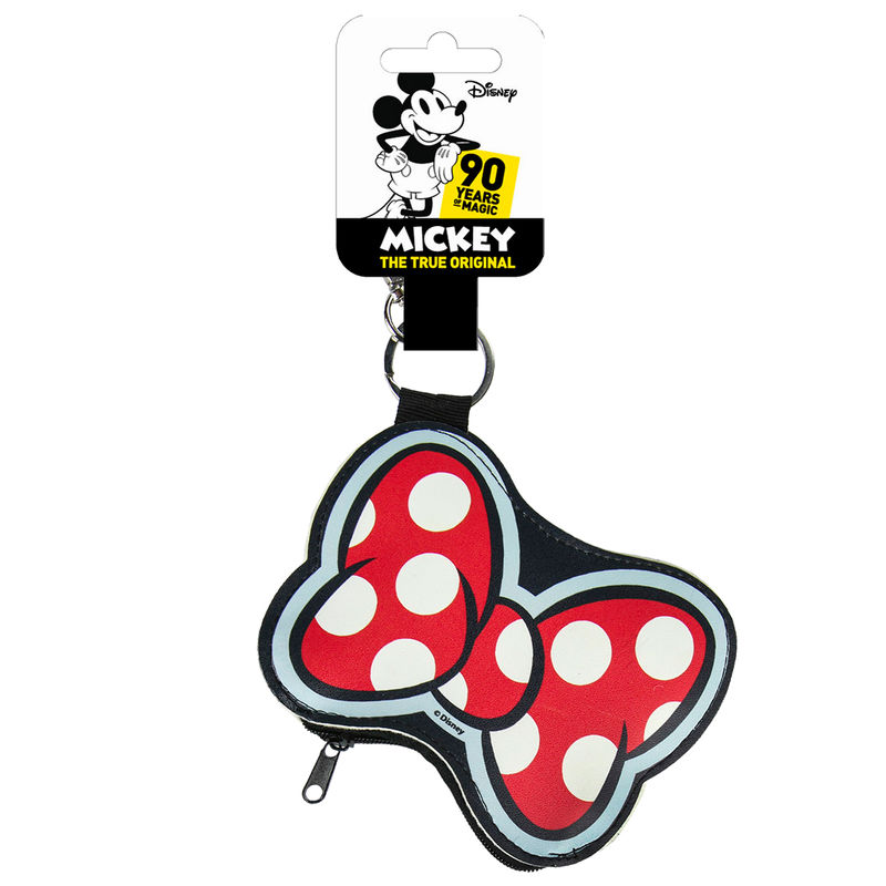 Photo du produit PORTE MONNAIE PORTE CLÉ DISNEY MINNIE NOEUD
