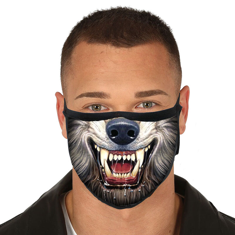 Photo du produit MASQUE HALLOWEEN RÉUTILISABLE 3 COUCHES LOUP