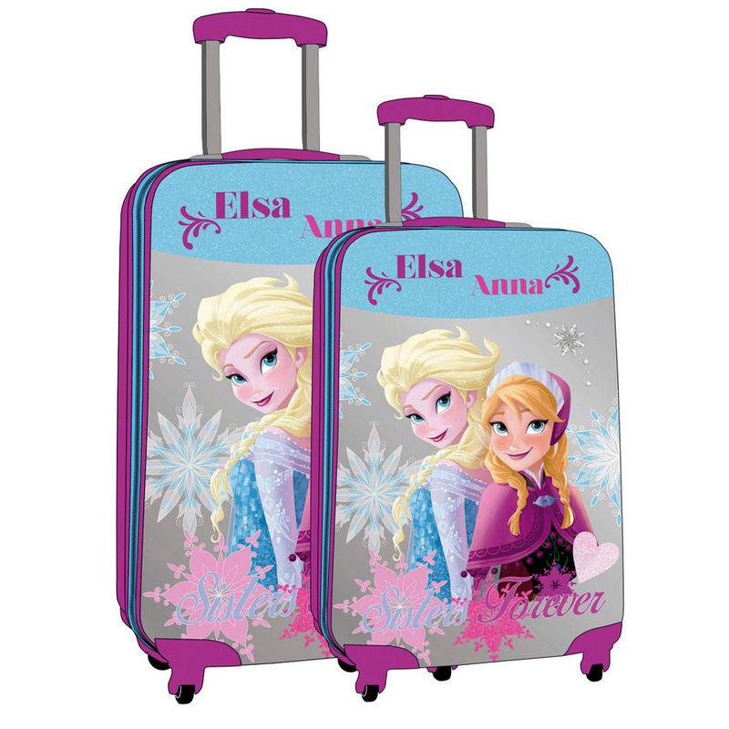 2 valises trolley reine des neiges abs sisters 55 cm et 67 cm. Black Bedroom Furniture Sets. Home Design Ideas