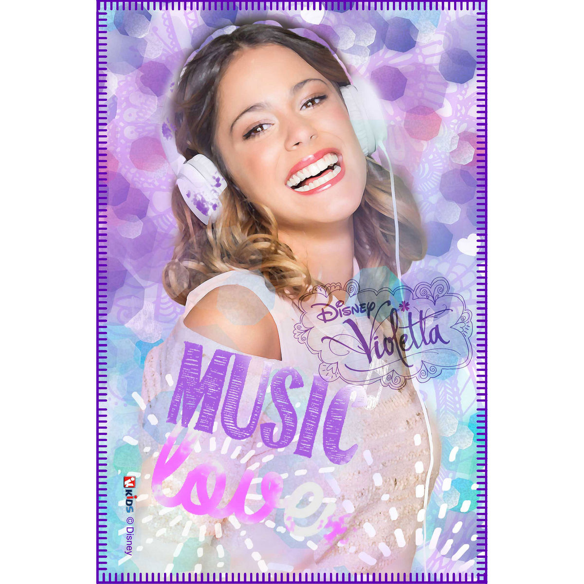 Photo du produit Couverture polaire Violetta Disney Music Love