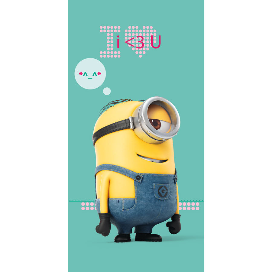 Photo du produit SERVIETTE DE PLAGE MINIONS I LOVE
