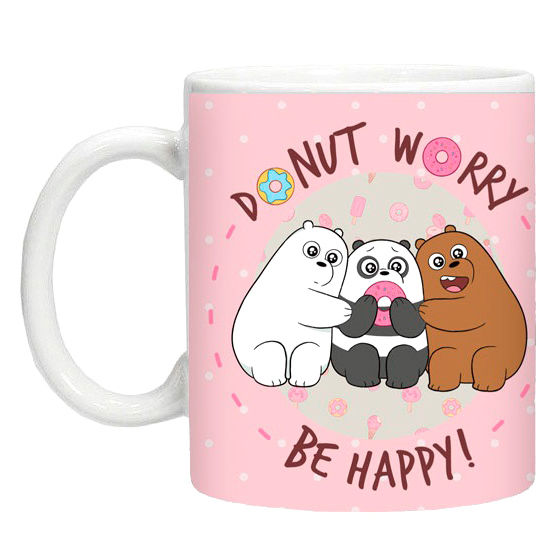 Photo du produit MUG WE BARE BEARS ROSE