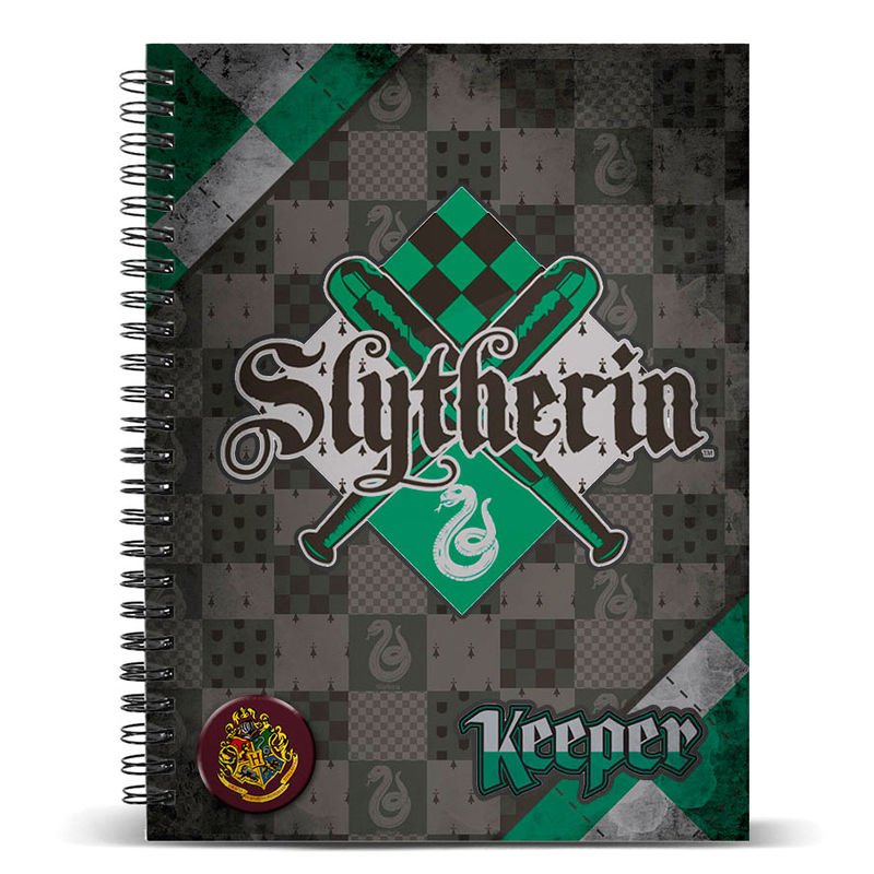 Photo du produit CARNET A5 HARRY POTTER QUIDDITCH SLYTHERIN