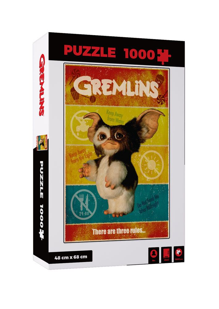 Photo du produit PUZZLE MOVIE GREMLINS PUZZLE THERE ARE THREE RULES 1000 PIECES