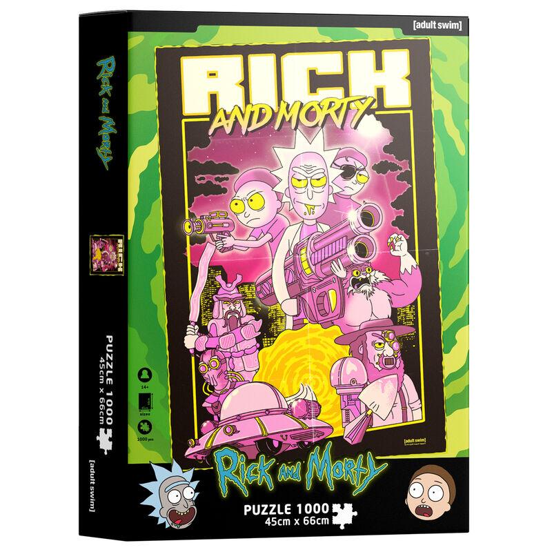 Photo du produit Puzzle Retro Poster Rick and Morty 1000 pièces
