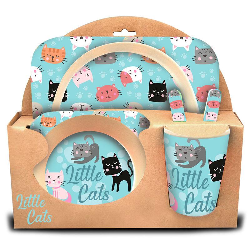 Photo du produit COFFRET DÉJEUNER LITTLE CATS EN BAMBOU