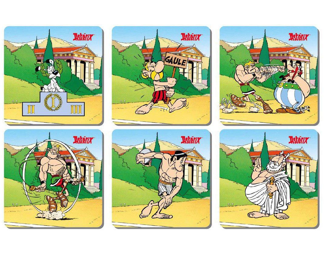 Photo du produit ASTERIX PACK 6 SOUS-VERRES OLYMPIC GAMES