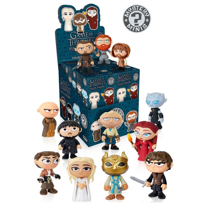 Photo du produit 12 MYSTERY MINI GAME OF THRONES 3 + PRESENTOIR