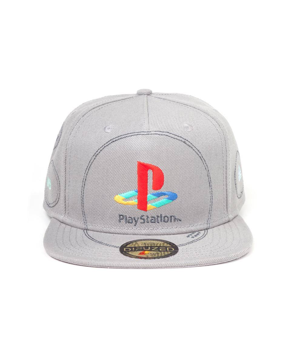 Photo du produit SONY PLAYSTATION CASQUETTE HIP HOP SNAP BACK SILVER LOGO