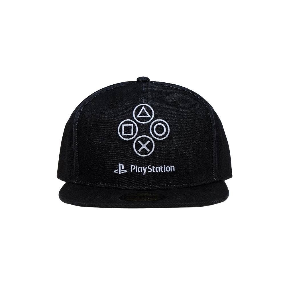 Photo du produit Sony PlayStation casquette Snapback Denim Symbols